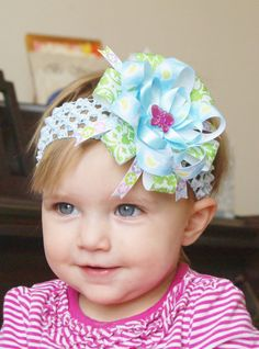 baby hair bowboutique ribbon hairbow
