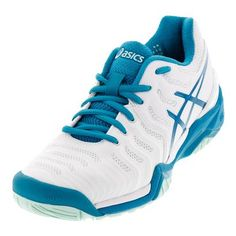 Zoom Cage 2 Mens chaussure de tennis (7.5, Blanc / Blue Lagoon / volt / noir)