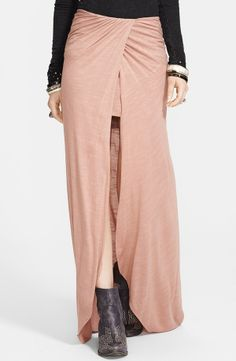 Free People Draped Knit Column Skirt
