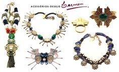 Na semana passada conheci a Carmen, marca de bijuterias handmade muito legal. Foi uma agradável surpresa que me conquistou na hora! Inspirada no Egito...