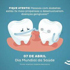 .  . A OMS dedica o Dia Mundial da Saúde em 2016 ao tema diabetes. É preciso cuidar bem da higiene bucal para evitar problemas na boca e no corpo também! . Fonte: Fanpage Aqui tem sorriso .  . #odontopediatria #odonto #odontolovers #minipaciente #minipacientes #dradosminipacientes #boatarde #doutoraparaminipacientes #dentistadecriança #dentistry #aquitemsorriso #aquitemsorriso #diamundialdasaude #todoscontradiabetes #diabetes by doutoraparaminipacientes Our General Dentistry Page…