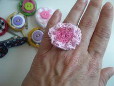Pink ring! Pink Ring, Crochet Earrings, Jewelry, Fashion, Moda, Jewlery, Jewerly, Fashion Styles, Schmuck