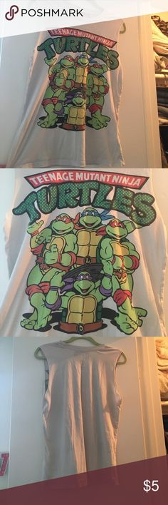 TMNT Muscle Tee | Forever 21 S/P Super comfy muscle tee from forever 21. Good condition, great for causal days, working out or sleeping in. Or for anyone that loves tmnt. Forever 21 Tops Tank Tops