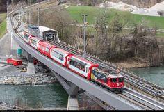 Chur, Electric Locomotive, Diesel Locomotive, Location Map, Photo Location, Glacier Express, Third Rail, Swiss Railways, Electric Train