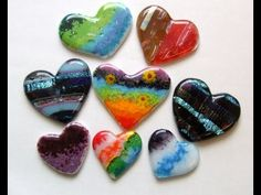 Fused Glass Tutorial - Glass Hearts.mpg