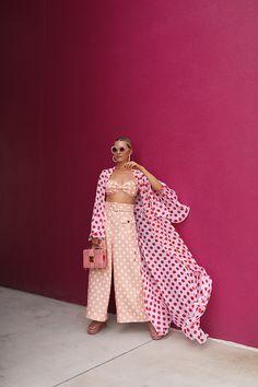 37dbd411c4 A polka dot party    Blair Eadie wearing an Alexandra Miro polka dot cover  up
