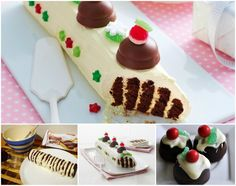 Chocolate Ripple Christmas Log