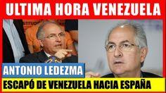 Antonio Ledezma Escapó hacia España Ultimas noticias de venezuela #venezuela.