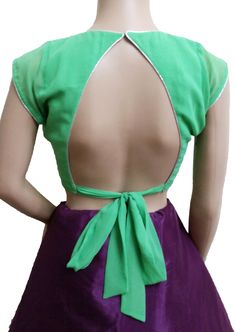 Trendy Backless Blouse With Adjustable String (Back)