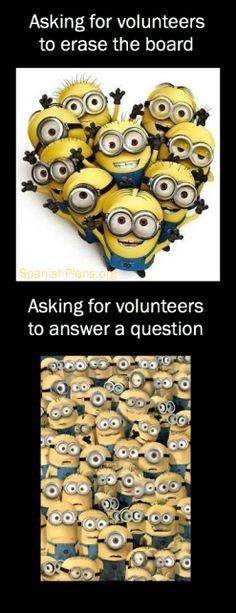 Asking for a Volunteer, Meme by SpanishPlans