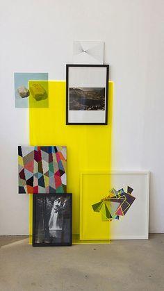 {plexi} glass + layers.. depth of field! - yellow, plexiglass, art, frames, display, exhibit -