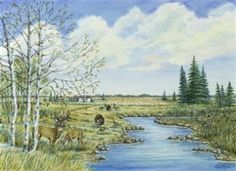 """""""Natures Preserve"""" by Leslie Kay Hertzfeld has been entered into May's Featured Artist Contest. Go here to vote: http://woobox.com/jivofo"""