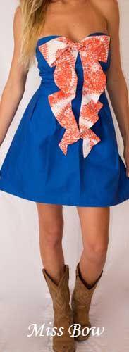 College Gameday Dress Custom made - Orange