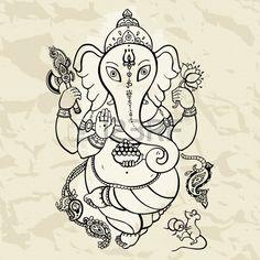 21426689-dieu-hindou-ganesha-main-vector-illustration-dessin-e.jpg (450×450)