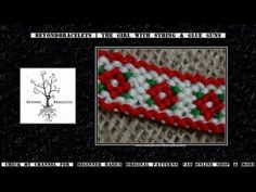 ► Friendship Bracelet Tutorial - Intermediate - Poinsettia - YouTube
