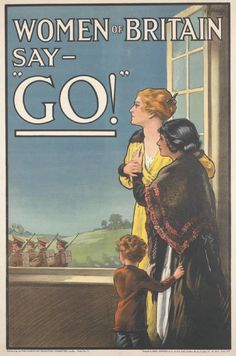 This poster, produced by E V Kealey in 1915 for the First World War British army recruitment campaign.