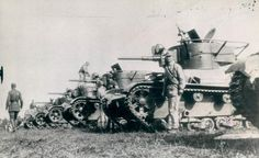 T-26 tanks. Chinese nationalist army. 200th division. 1938.