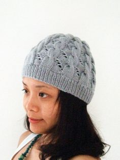 Hermione's Silver Grey Hat in Extra Fine Merino by KittyKatPurls, $50.00