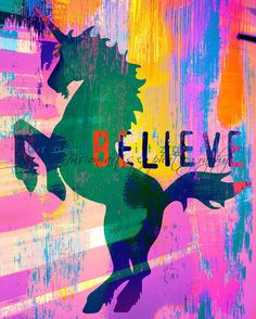 Unicorns Believe. Unicorn Mystical Nursery Kids Decor At Checkout, Choose Lustre Print or Gallery Wrapped Canvas Unicorn And Glitter, Real Unicorn, The Last Unicorn, Unicorn Art, Magical Unicorn, Rainbow Unicorn, Unicorn Quotes, Unicorn Painting, Chasing Unicorns