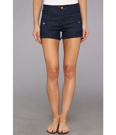 Side pockets and gold buttons. Just in case your usual Daisy Dukes are still wet with sand! 7 For All Mankind