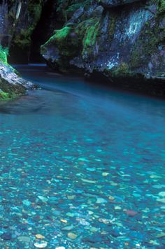 Turquoise, Avalanche Creek, Glacier National Park, Montana, photo via igor.