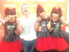 I met @BABYMETAL_JAPAN and apparently was the happiest I've ever been