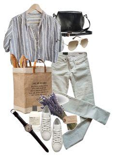 """Untitled #9441"" by nikka-phillips ❤ liked on Polyvore featuring Citizens of Humanity, Le Labo, Olive, Ann Demeulemeester and Ray-Ban"