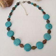 Turquoise necklace set Southwest turquoise by BarbsBeadedJewelry
