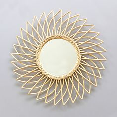 Bamboo and rattan mirror - Angie.