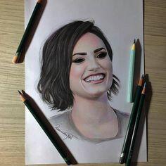 Amazing Drawings, Realistic Drawings, Beautiful Drawings, Demi Lovato, Pencil Art Drawings, Cute Drawings, Celebrity Drawings, Art Music, Cool Artwork