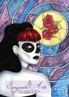 Bell Muerte original painting by Crystal Moore