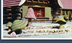 Santa's Village in California. Concrete Stone, Cement, Brick Pathway, San Jose California, Santa's Village, Outdoor Living, Outdoor Decor, Stone Mosaic, Fairy Houses