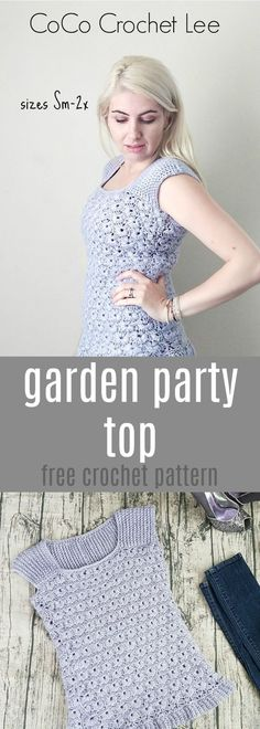 A new FREE crochet pattern on the Em and CoCo Lee Blog by CoCo Crochet Lee. This top is available in sizes small through 2x!