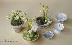 miniature inspiration for a dollhouse Easter