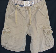 Mens Size 34 American Vintage Cargo Casual Shorts Cotton