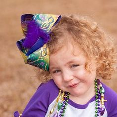 d1cd6bb3854d Big Ombre Mardi Gras Bow with Mardi Gras Masks and Metallic Gold with  Glitter Accents, Big Mardi Gras Hair Bow, Big Mardi Gras Bow. Southern  Belles ...