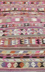 this kilim rug is a stunning piece! gorgeous pastel colors and pattern