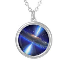 Black Hole in space Custom jewelry necklace