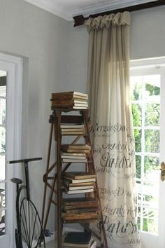 Just What I Was Looking For; An Idea For The Drop Cloth Curtains For My Booth…