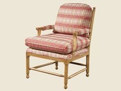 """Lexington Upholstery 1627-11 Martine Chair.  26""""W X 27""""D X 34""""H.  Choice of finishes and fabrics."""