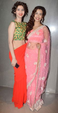 Sashaa Agha with Tia Bajpai at special screening of 'Desi Kattey'. #Bollywood #Fashion #Style #Beauty