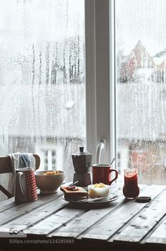 Rainy days.. by AishaY IFTTT 500px Breakfast Rain Rainy day breakfast table coffee food photography indoor muesli natural