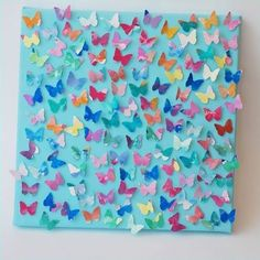 Butterfly Collage. Love this idea. Would look beautiful on a bulletin board