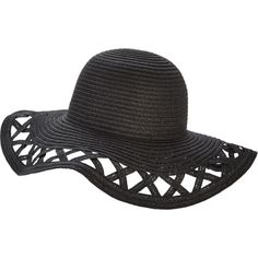 V By Very Cut Out Floppy Straw Hat (50 BRL) ❤ liked on Polyvore featuring  accessories 00a29b57181