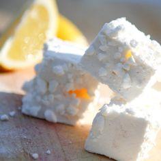 Lemon meringue marshmallows made with home-made lemon curd