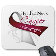 Scroll Ribbon Head and Neck Cancer Awareness