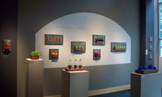 Art Glass, Solo show entitled 'Jen Violette-Crisp' at Vetri Glass Gallery, Seattle, WA, August Soft Layers, Glass Wall Art, Home Studio, Wall Sculptures, Hand Blown Glass, Three Dimensional, Crisp, Seattle, Gallery
