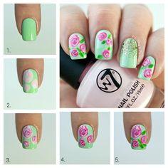 Nail Art primaveral con hermosas flores - http://xn--decorandouas-jhb.com/nail-art-primaveral-con-hermosas-flores/