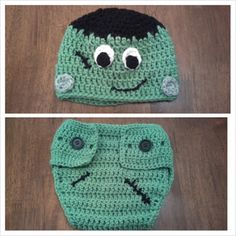 Butterfly's Creations: Frankenstein beanie and diaper cover - FREE pattern