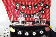 3 Mickey Mouse Birthday Dessert Table